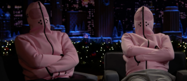 The Baker Miller Pink Relaxation Hoodie worn by Jimmy Fallon and Jon Glaser on The Tonight Show. See more at vollebak.com