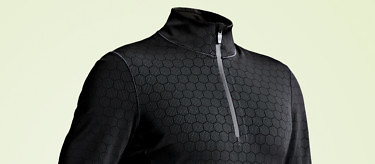 Condition Black Ceramic Baselayer - part of the toughest sports clothing system on earth. See more at vollebak.com