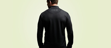 The Condition Black Ceramic Midlayer is made from a heat-retaining fabric with a soft brushed fleece underside. See more at vollebak.com