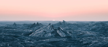 Lava formations on Hawaii at dawn, by photographer Reuben Wu