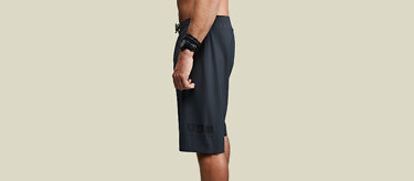 black ocean shorts dry full logo side 2752