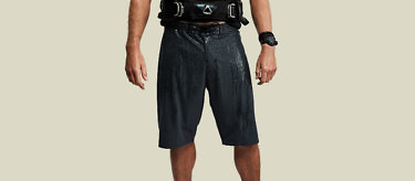 black ocean shorts full front wet harness main 2752