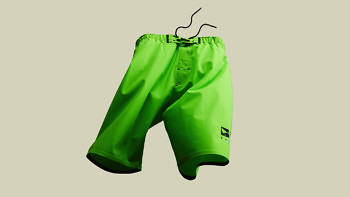Vollebak's Ocean Shorts in green - the most advanced amphibious shorts on the planet. Buy at www.vollebak.com