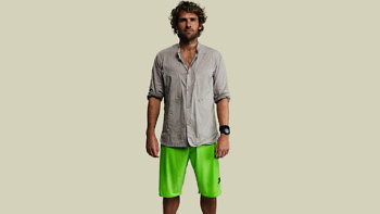 green shorts x mountain shirt full front 1376