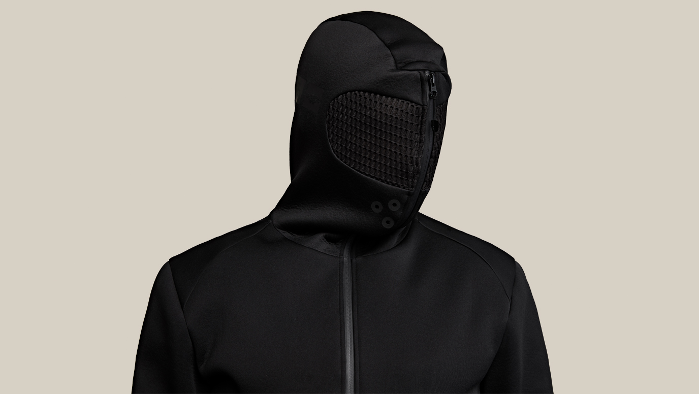 c50ae6d4277 Blackout Relaxation Hoodie. An isolation tank you can take anywhere.