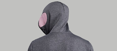 relax grey crop hood turn back left 2752