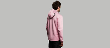 relax pink back 3 4 full length hood down 2752