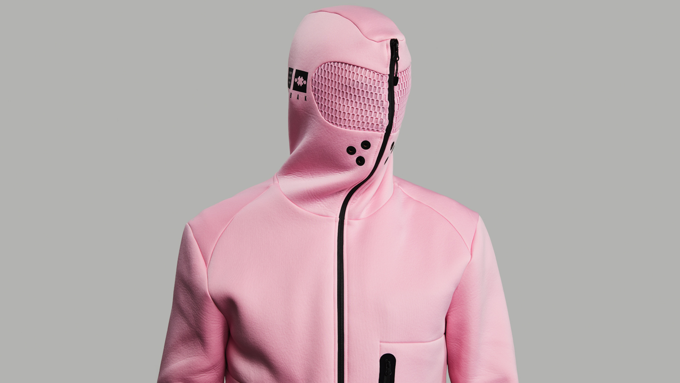 Relaxation Hoodie. The original Baker Miller Pink edition. Mindfulness in a hoodie.