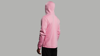 relax pink full back 3 4 left hood 1376