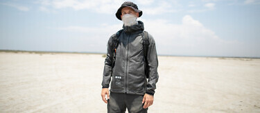 CEO and adventurer Nikita Gushchin in the Graphene Jacket | Available at vollebak.com